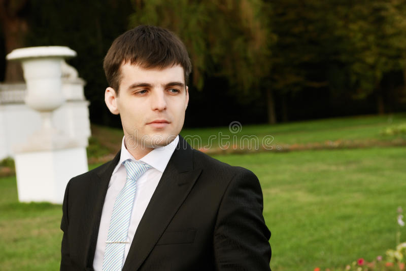 Young man in park royalty free stock images