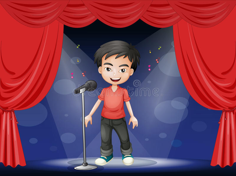 A Young Man Performing At The Stage Stock Image