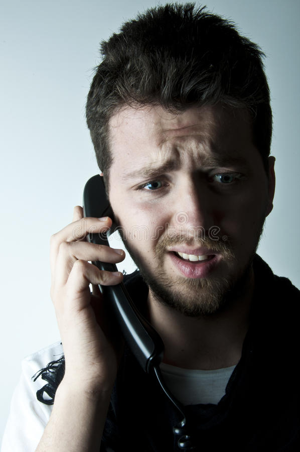Young Man On The Phone Stock Image