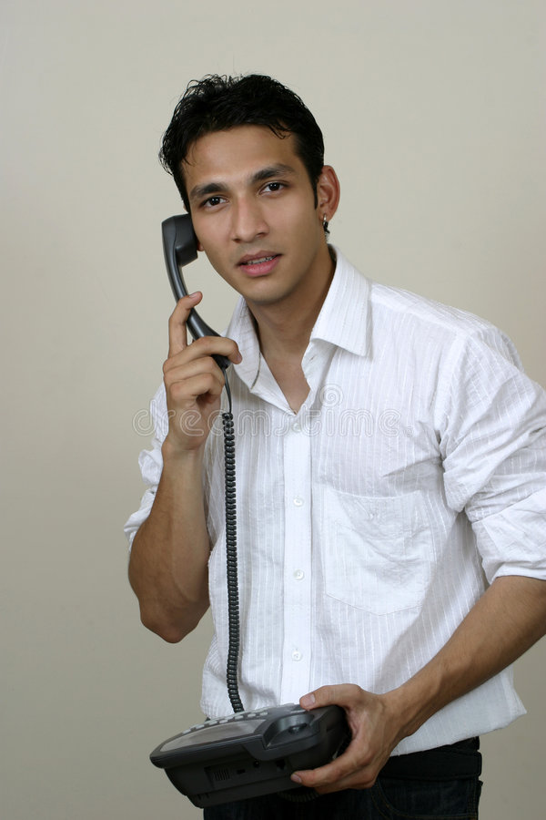 Download Young Man On Phone Stock Image - Image: 5687781