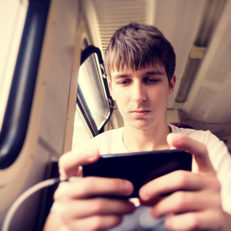 Young Man with a Phone royalty free stock photos