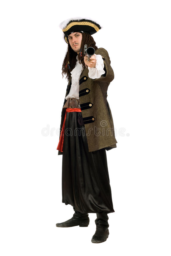 Young Man In A Pirate Costume Royalty Free Stock Images