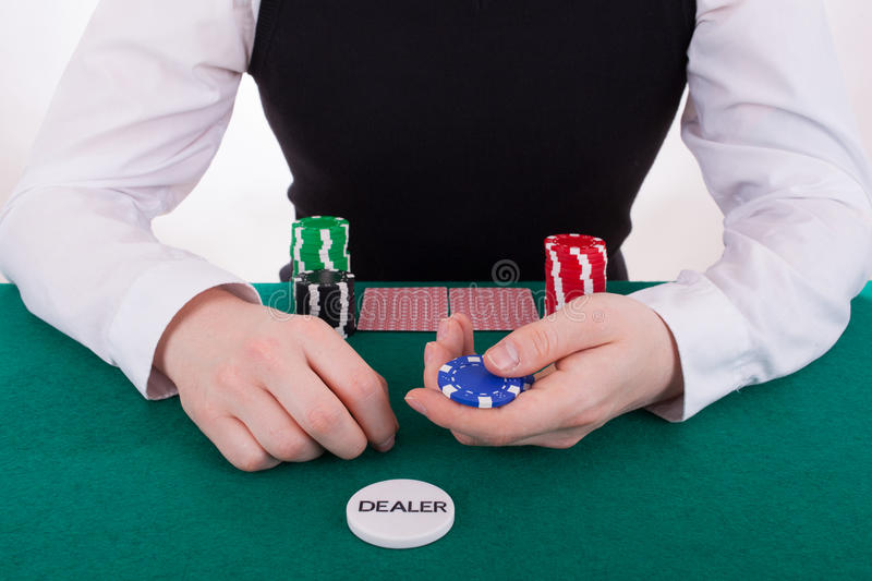Download A Young Man Is Playing Poker Stock Image - Image: 25245451