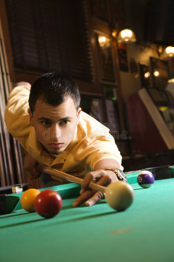 Free Young Man Playing Pool. Stock Images - 2037224