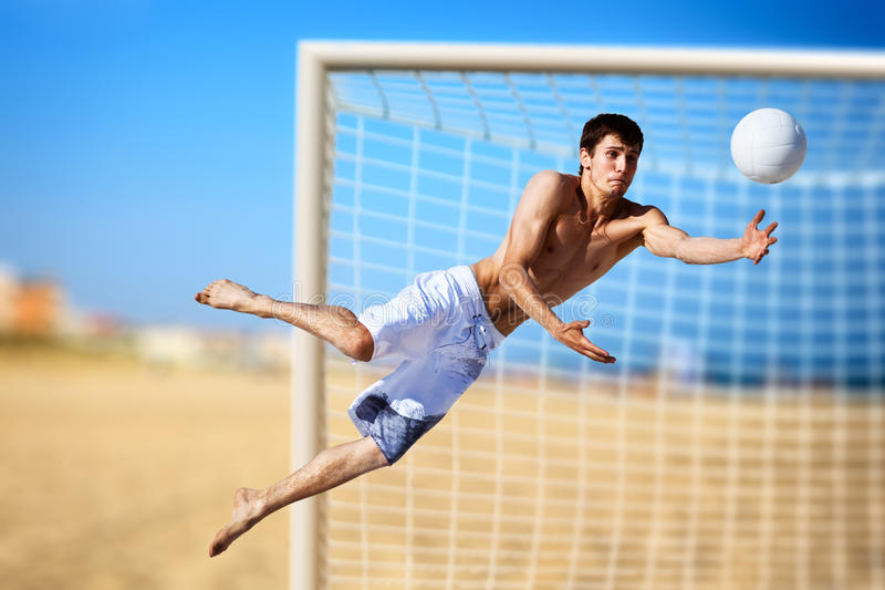 Young Man Playing Soccer Royalty Free Stock Photography