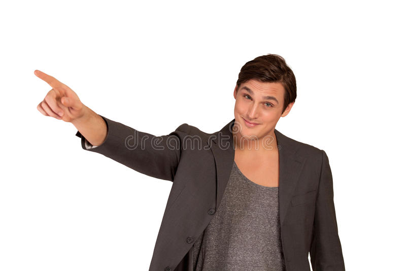 Download Young man pointing away stock photo. Image of bossy, dude - 23506432