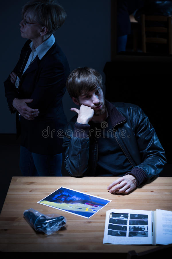 Young man on police station. Image of young men on police station stock images