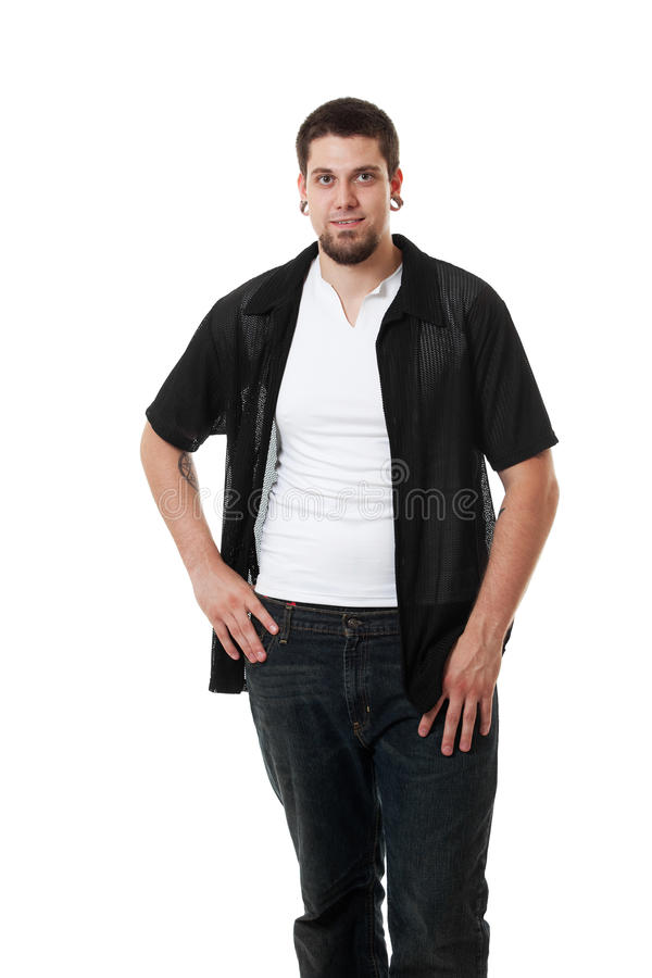 Download Young Man Portrait stock image. Image of camera, person - 14858505