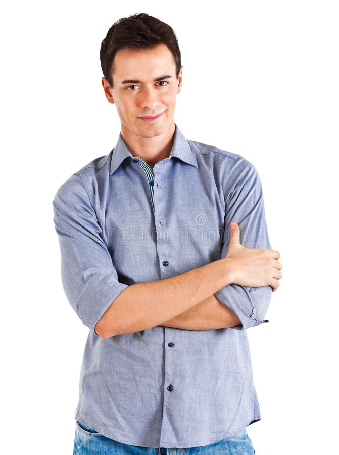 Young man portrait royalty free stock photo