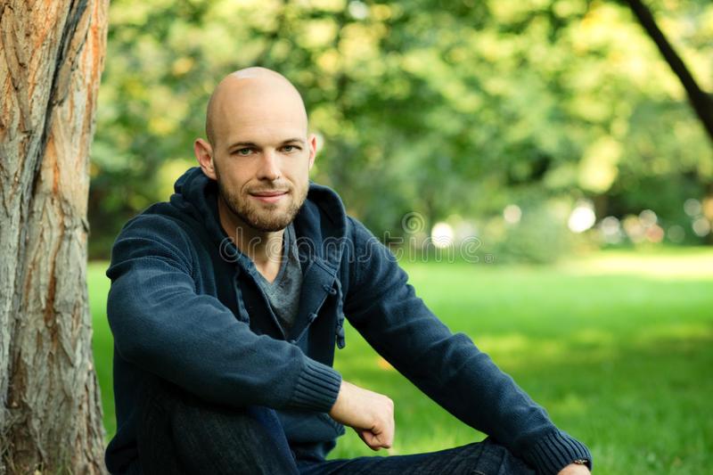 Download Young Man Portrait stock photo. Image of bald, environmantal - 21338380