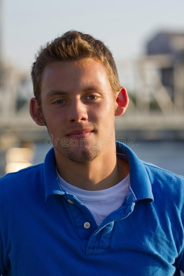 Free Young Man Portrait Along Waterway Stock Photo - 20383200