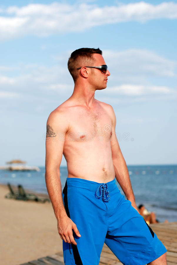 Download Young Man Portrait On The Beach Stock Photo - Image: 10591122