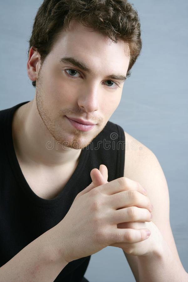 Young Man Portrait Posing Looking Camera Royalty Free Stock Image