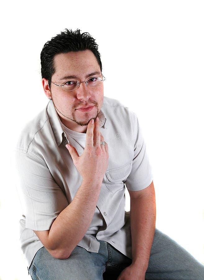 Young man posing stock photos