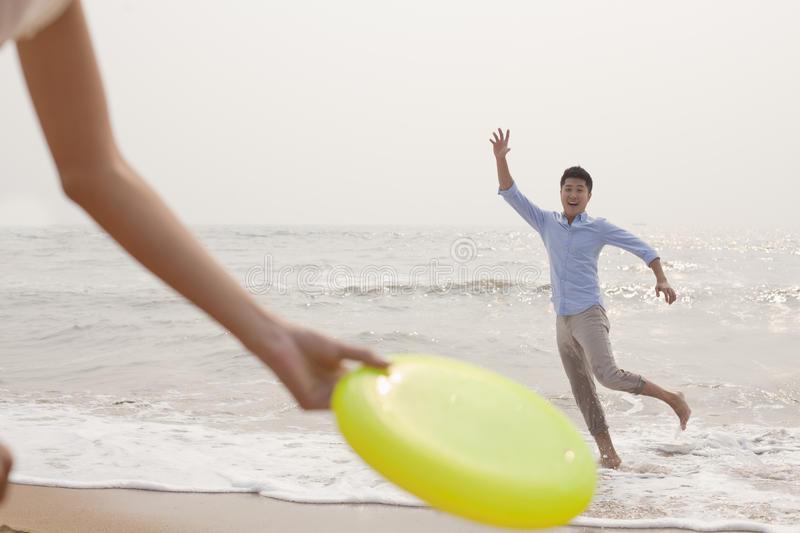 Download Young Man Preparing To Catch Frisbee Stock Photo - Image: 31694058