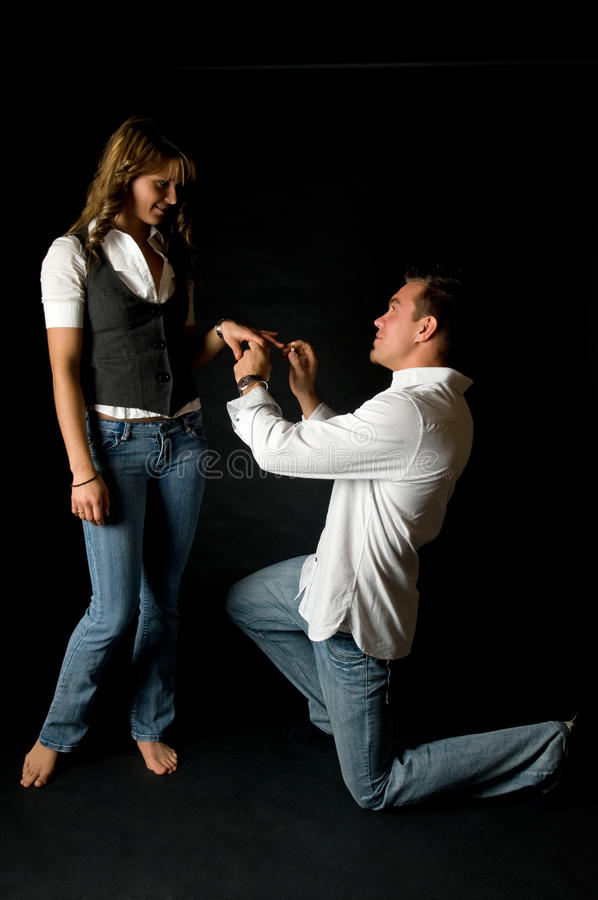 Young man proposing stock images