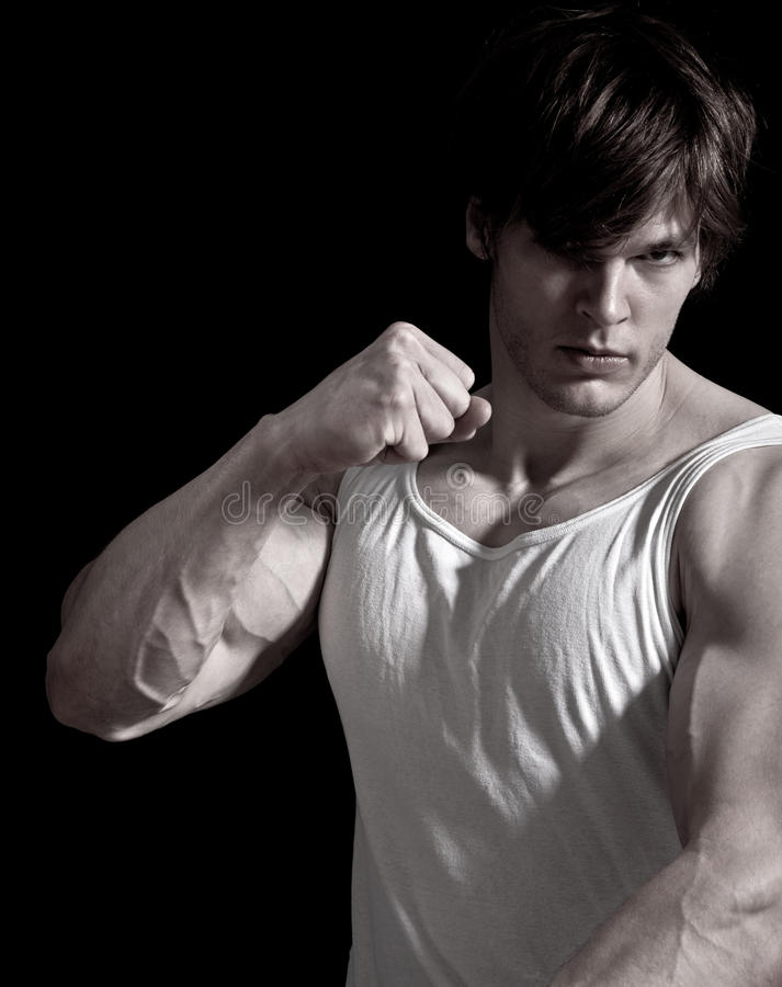 Download Young Man Punching Stock Photo - Image: 22791080