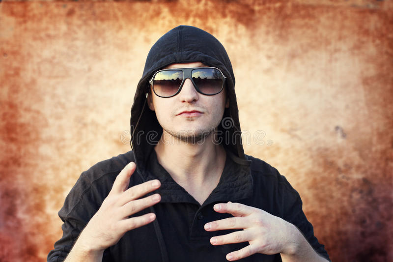 Young man rapper stock photos