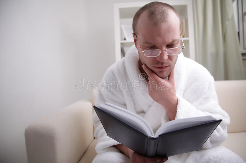 Young Man Read Book Royalty Free Stock Photo