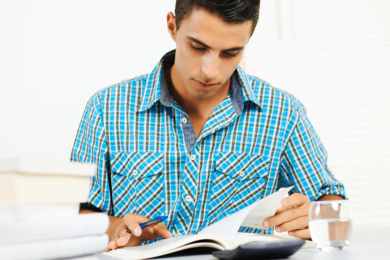 Download Young man reading stock image. Image of faculty, attractive - 21486873