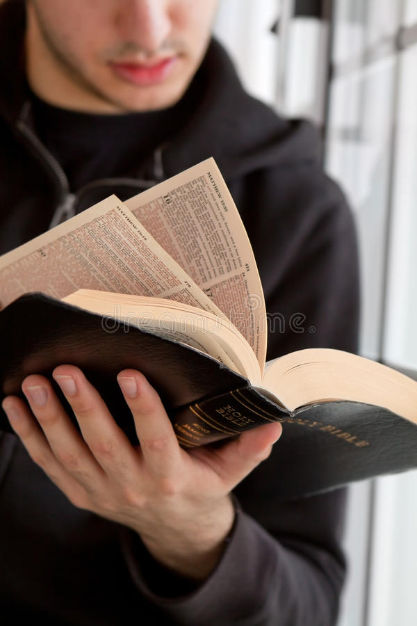 Download Man Reading Bible stock photo. Image of lonely, bible - 29952454