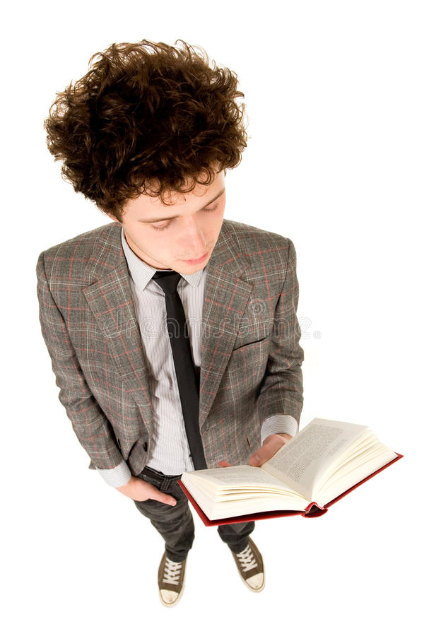 Young Man Reading Book Royalty Free Stock Image