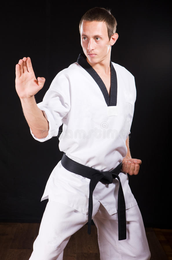 Download Young Man Ready To Fight On Black With Path Stock Image - Image: 11095951