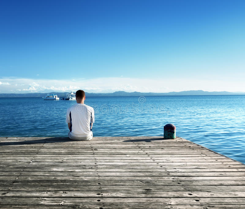 Download Young man relax siting stock photo. Image of adult, landscape - 33789430