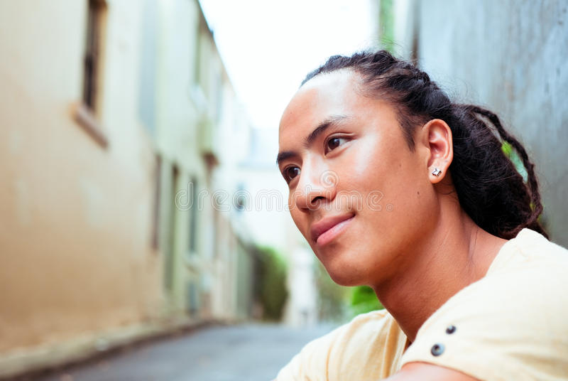 Young Man Resting Outside royalty free stock photo