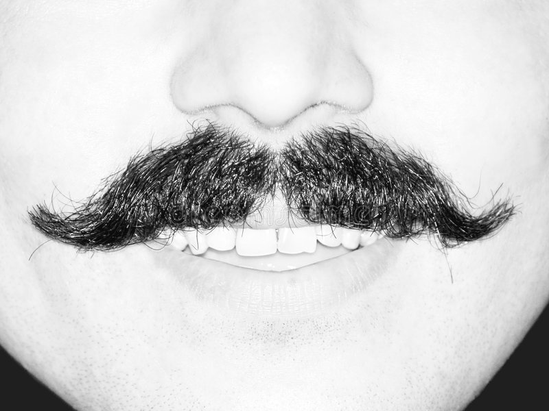 Young Man's Moustache royalty free stock photos