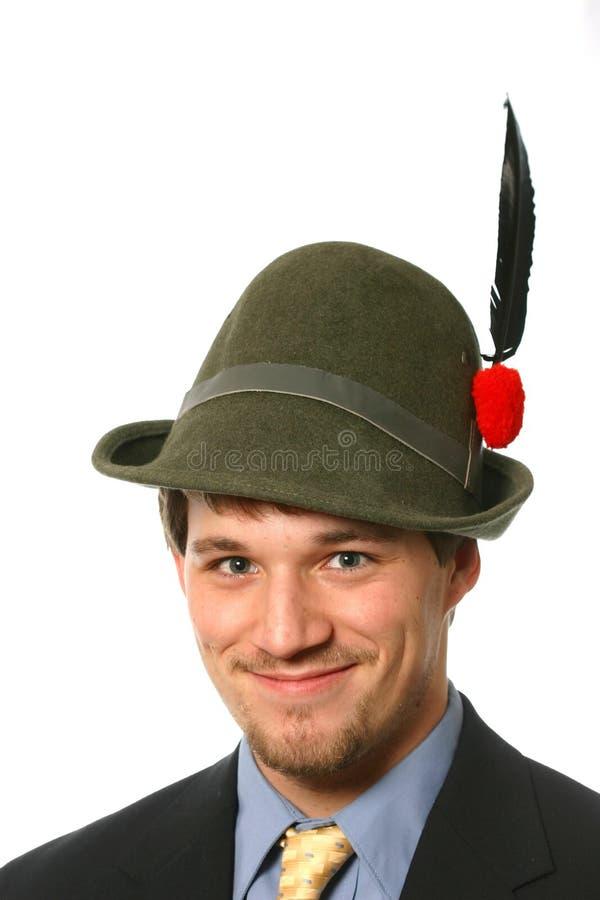 Free Young Man S Portrait In Italian Alpini Hat Stock Photos - 1726773