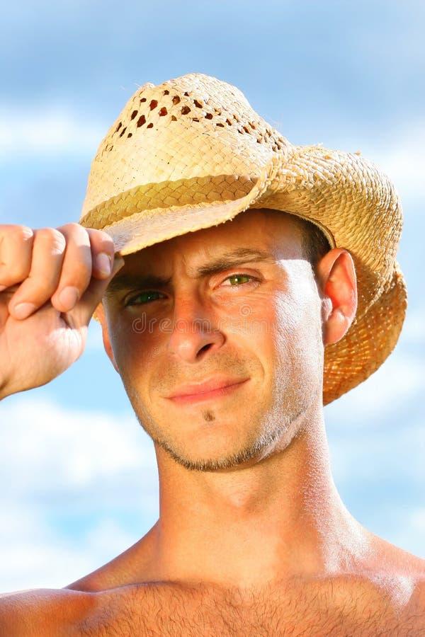 Young man saying hello stock image