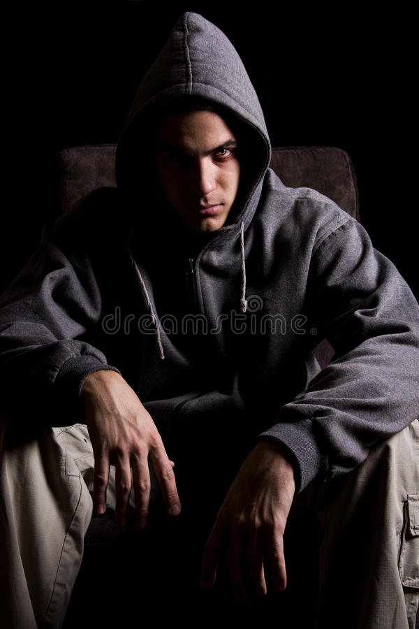 Download Young man with scary eyes stock photo. Image of unnatural - 10121818