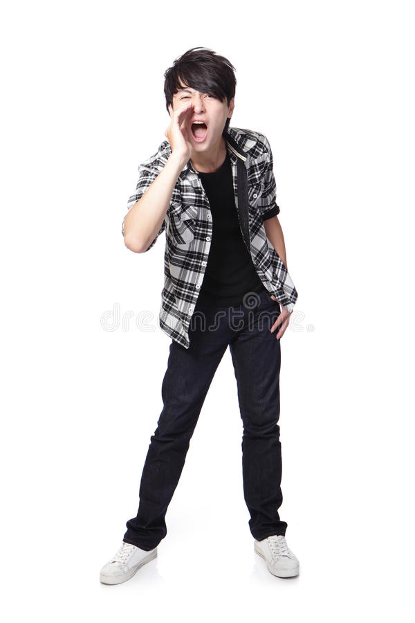 Download Young man screaming stock photo. Image of crazy, full - 28652690