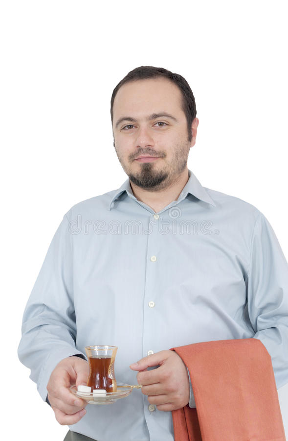Free Young Man Serving Turkish Chai Stock Photo - 24999540
