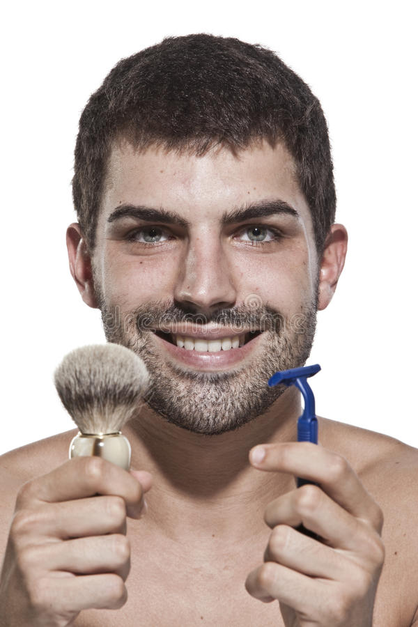 Download Young Man Shaving Royalty Free Stock Photography - Image: 10871397