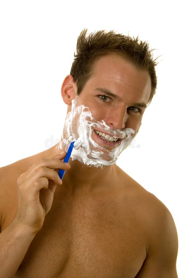 Download Young Man Shaving His Beard Stock Photo - Image of health, handsome: 5332514