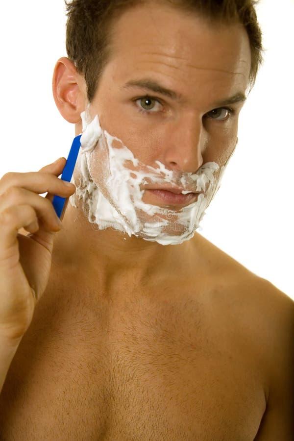 Download Young Man Shaving His Beard Stock Image - Image: 5344959