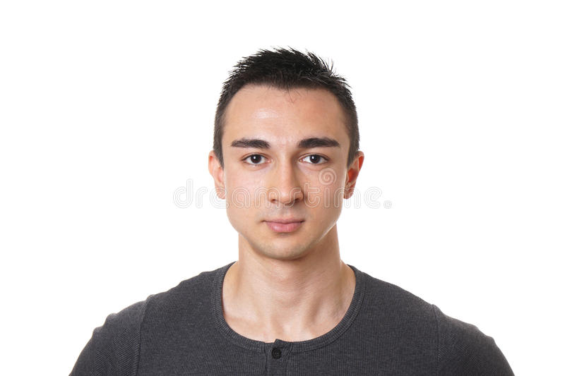 Young man with short dark hair royalty free stock image