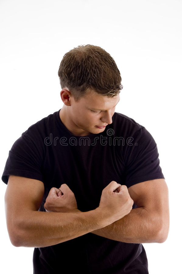 Download Young Man Showing His Muscles Stock Image - Image: 7364015