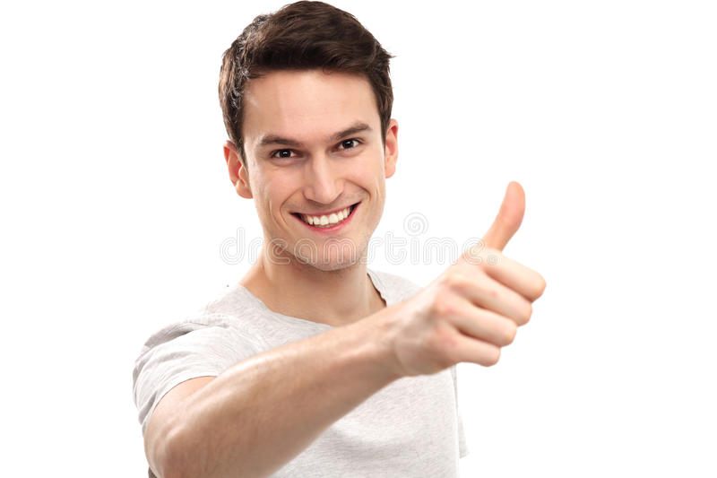 Download Young Man Showing Thumbs Up Stock Image - Image: 29073787