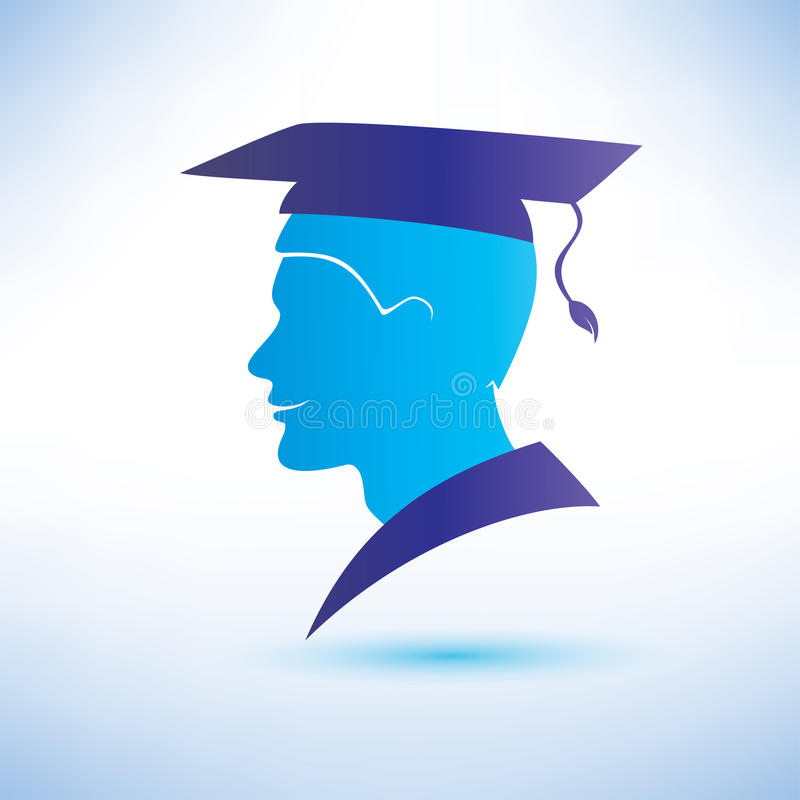 Download Young Man Silhouette With Graduation Cap Stock Vector - Illustration of diploma, graduation: 37974673