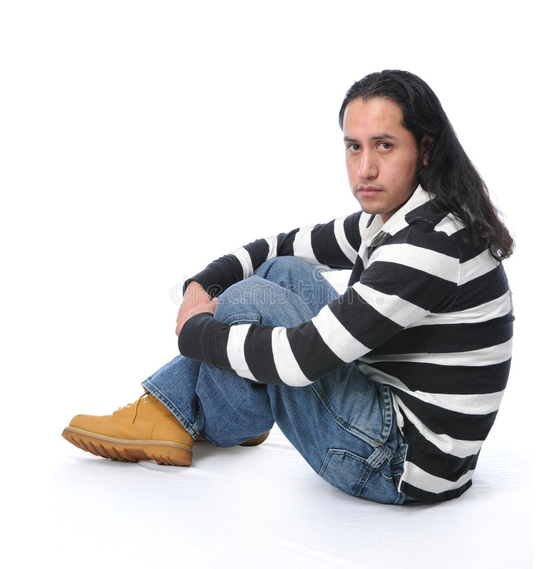 Young Man Sitting royalty free stock image