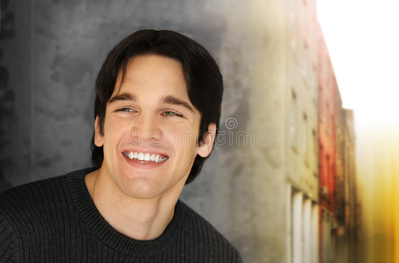 Young man smile royalty free stock photo