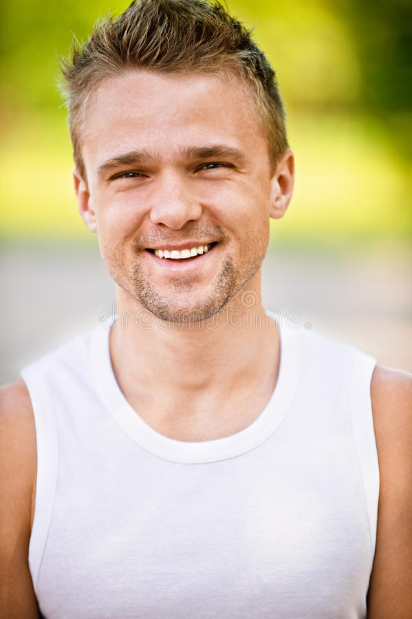 Download Young man smiles stock image. Image of alone, closeup - 14519369