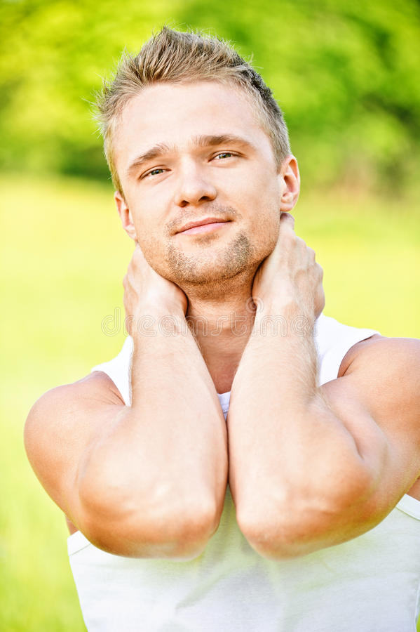 Download Young man smiles stock photo. Image of masculine, happy - 14542648