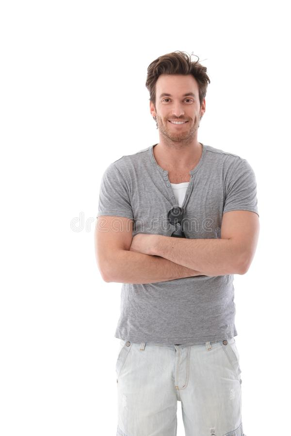 Download Young Man Smiling Happily At Summertime Stock Photos - Image: 24460653