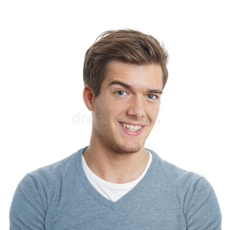 Young man smiling royalty free stock photos