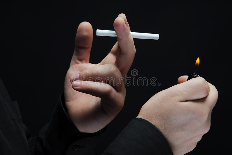 Download Young Man Smokes A Cigarette Stock Photo - Image: 16805042