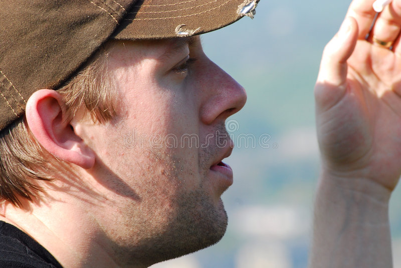 Download Young Man Smoking Royalty Free Stock Images - Image: 9075419